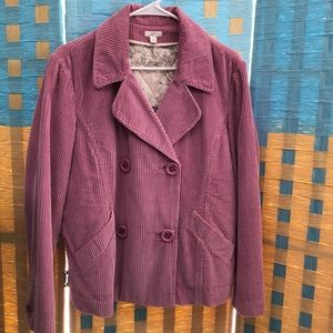 J.jill corduroy jacket coat M double breasted NEW